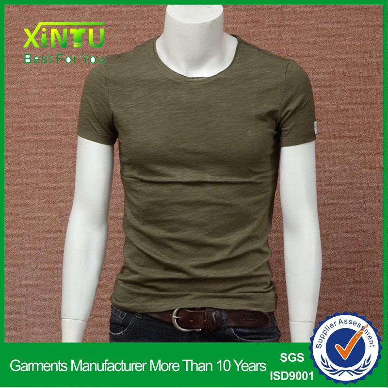 crew neck blank t shirts sublimation t shirts 95% cotton 5% spandex mens t-shirt