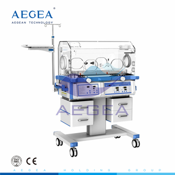 AG-IIR002A hospital medical baby bassinet baby incubator with drawers