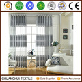 100% polyester Gray striped sheer curtain for the living room
