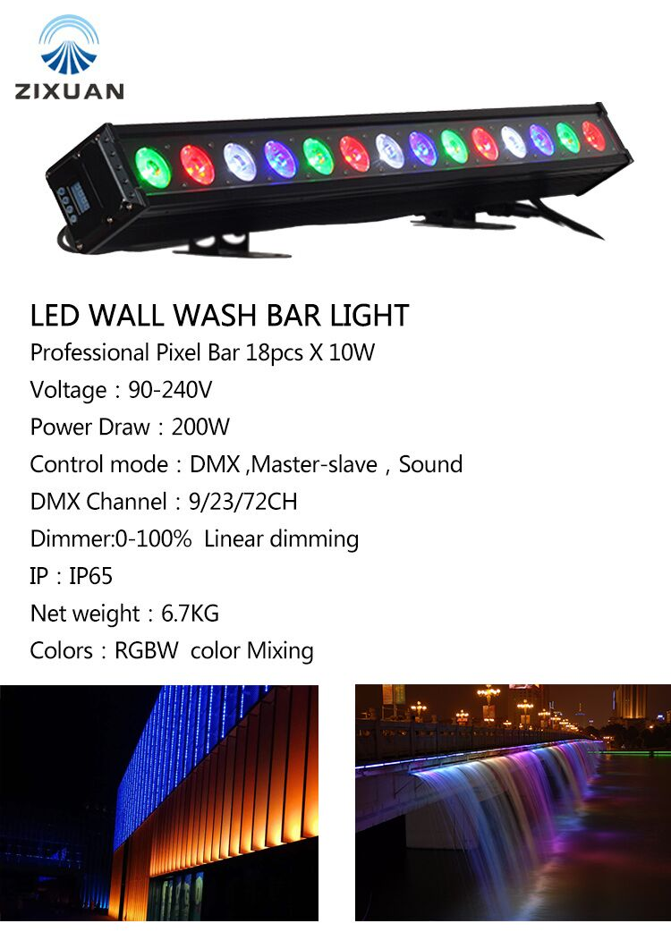 LED Stage light wall washer RGBW 4in1 18*10W DMX IP65 Waterproof Flood Wall Light