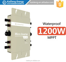 1200W 22-45VDC grid tie micro inverter with communication function and waterproof IP67 for 260-300W solar panel or wind turbine