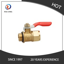 Male Brass Ball Valve With Brass Lockable Handle
