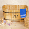 Small wooden bathtub baby bath pet washing tub