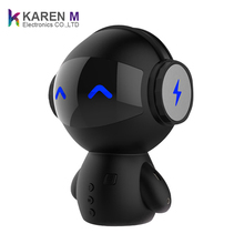Cute Robot Smart BT Speaker Radio FM Bass Music Calls Handsfree with Multi-function for Chirstmas Gift