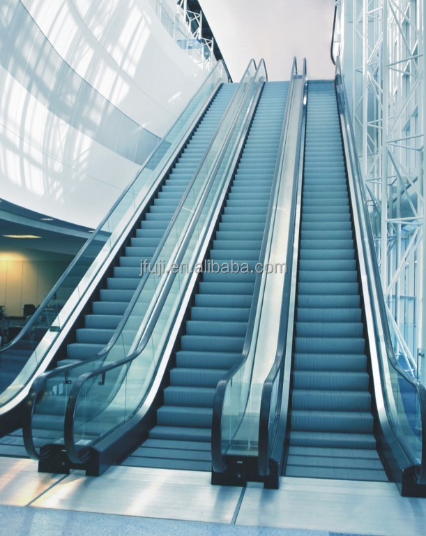 ISO CE JFUJI VVVF High quality automatic handrail escalator with low price / residential escalator