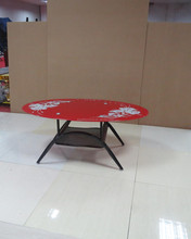 Modern used coffee shop round glass dining table tea table offfice table