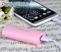 18650 battery portable phone charger cute pink best power bank universal smart powerbank 5600mah