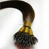 Nano tip hair steel tip hair extension virgin remy double drawn brazilian hair