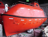 Fire-protective type FRP totally enclosed free fall life boat 16persons