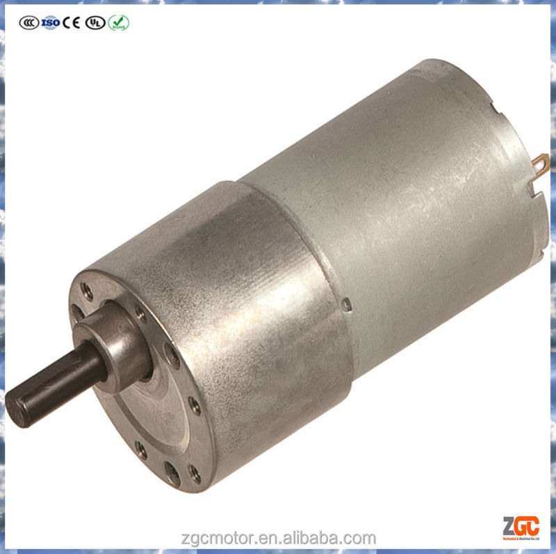 PM DC Spur Gear Motor 35mm,gear box OD37,12V
