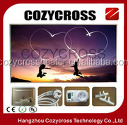 CE infrared heater manufacturer carbon crystal heating panels with the frame