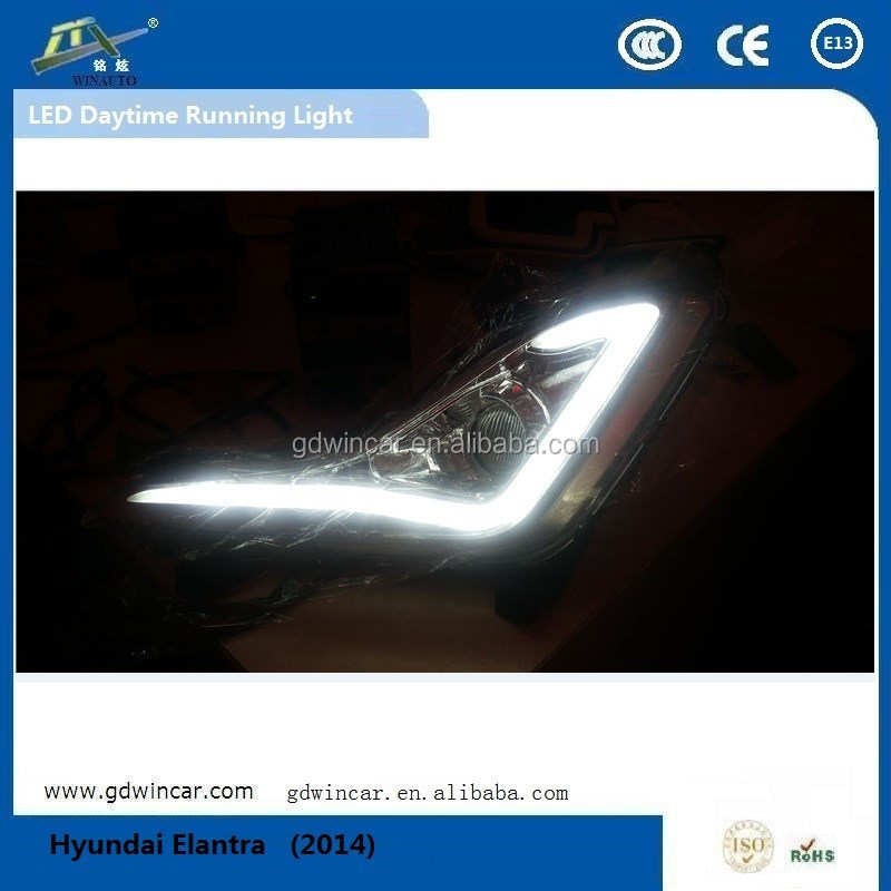 Factory Wholesale Newest Products High Power For Hyundai Elantra 2014-2015 Auto Led Fog lights, Bright LED Daytime Running Light