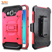 For samsung J7 super case holster with belt clip rugged combo mobile phone case