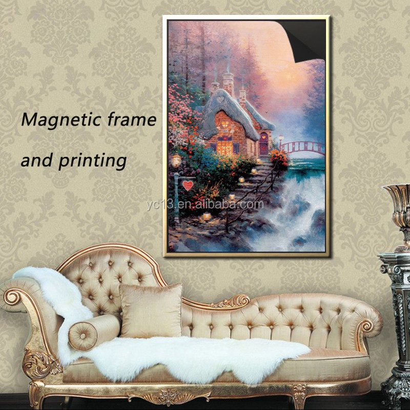 clear magnetic photo frame & print magnetic painting Thomas kinkaides 1013-182