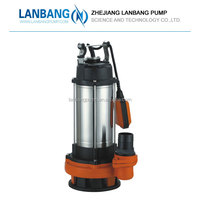 V1500F 220V50hz 2hp water pump specifications submersible 1.5kw sewage water pump for home use