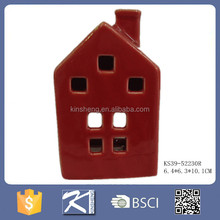 Creative porcelain house design different types of candle holders
