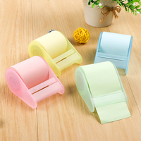Promotion sticky memo pad Self-adhesive colorful rolls sticky note with dispenser
