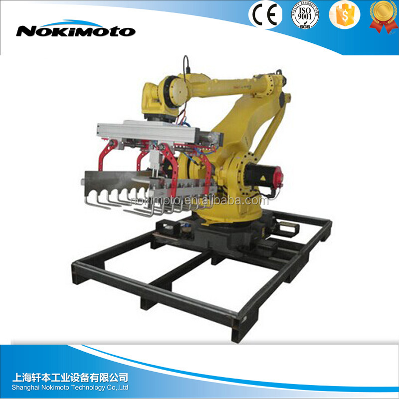 Chinese food industry smart speed full automatic robot palletizer price