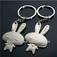 2013 new fashion rabbit key chains for promotion gift