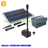NEW Solar Powered 20W Fountain/Pond/Pool Water Pump Kit with Timer & LED Waterproof Lights (SPBL20-501210D)