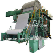 Zhengzhou toilet paper machine, 2400mm high speed waste paper, cellulose recycling toilet paper making machine, 7-8 T/D