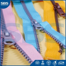 two way close end zipperfor pants,SBS rainbow teeth zipper plastic zipper,3# close-end metal zipper