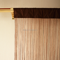 Orange shimmering long shower modern curtains uk