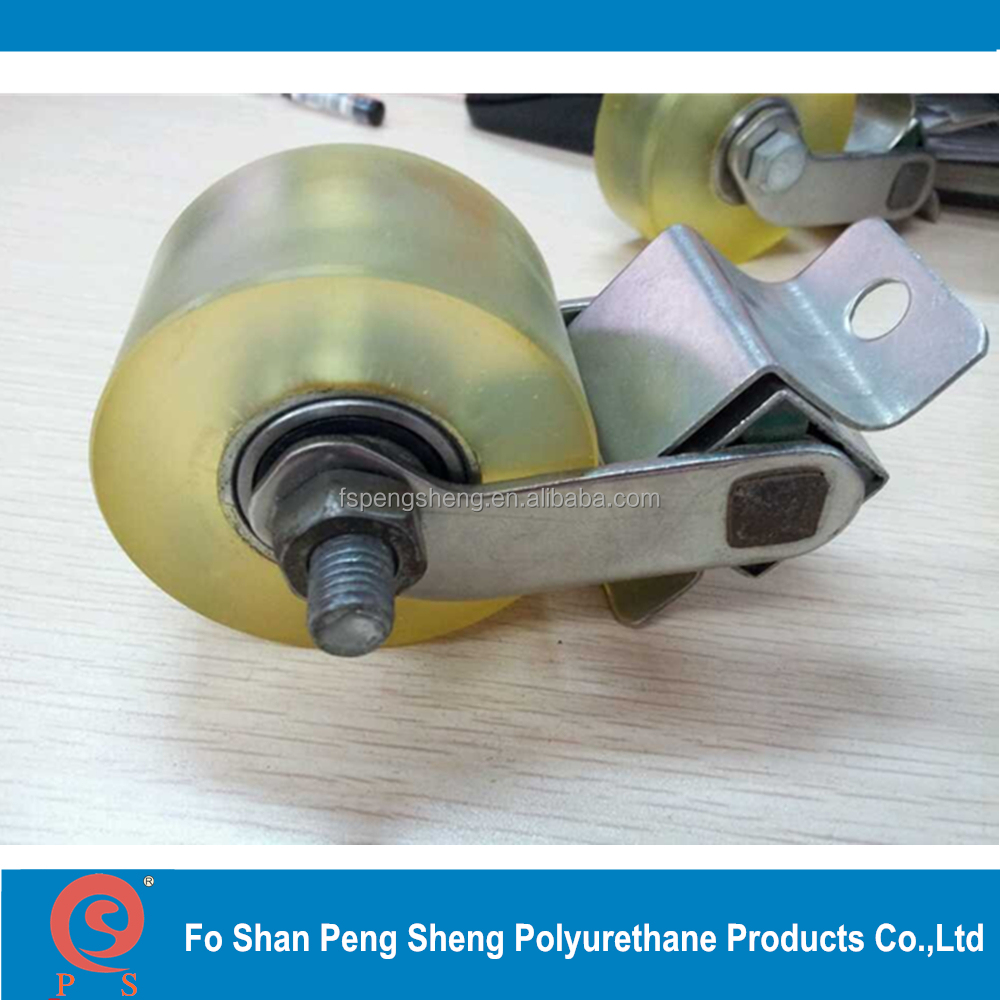 high wear resistant PU polyurethane rubber tyre