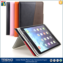 china supplier mixed color kickstand leather case for ipad air