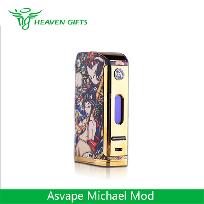 Newest 100% Original dual 18650 box mods 200W Asvape Michael