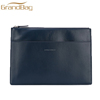 China supplier fashion real cow leather hand bags smooth clutch bag with zipper strap wholesale