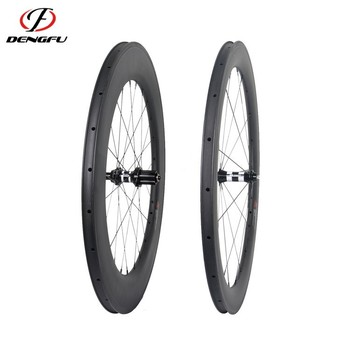700c tubular road wheels carbon fiber 60mm depth carbon bicycle wheels road