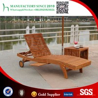 outdoor garden lounger beach bed Teak wood chair