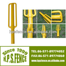 China Supplier electric fence Heavy duty metal construction sinker pole rammers for fence post