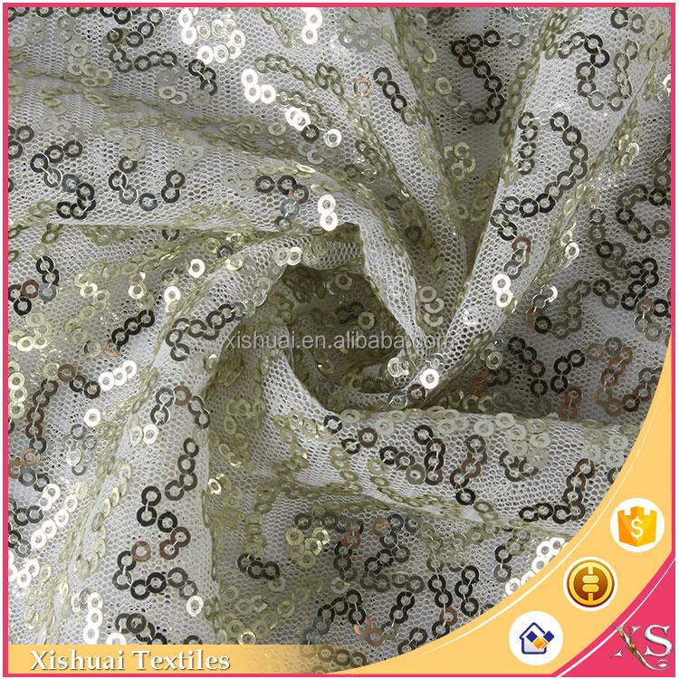 Most popular Net embroidered Elegant For Dress material polyester