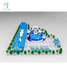 New design giant inflatable sea water park game