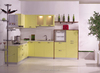 modern design kitchen model cabinet with granite countertop