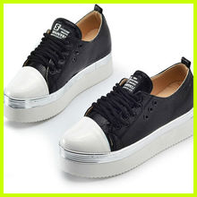 S3014 2013 newest korean style muffin casual shoes fashion patten leather bright student shoes spring fall canvas shoes