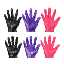 2017 New Arrival Flirting Magic Palm Finger Massage Sex Toys Glove for Female Male Erotic Stimulate Games