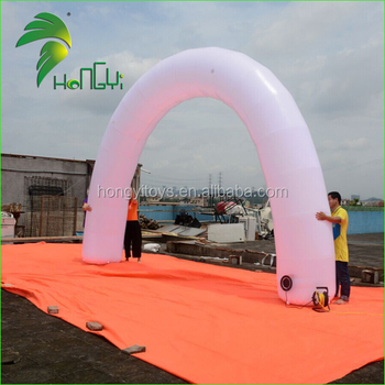 Commercial Use Inflatable Glow Balloon Arch / Portable Advertisement Inflatable Air Blowed Gate Archway