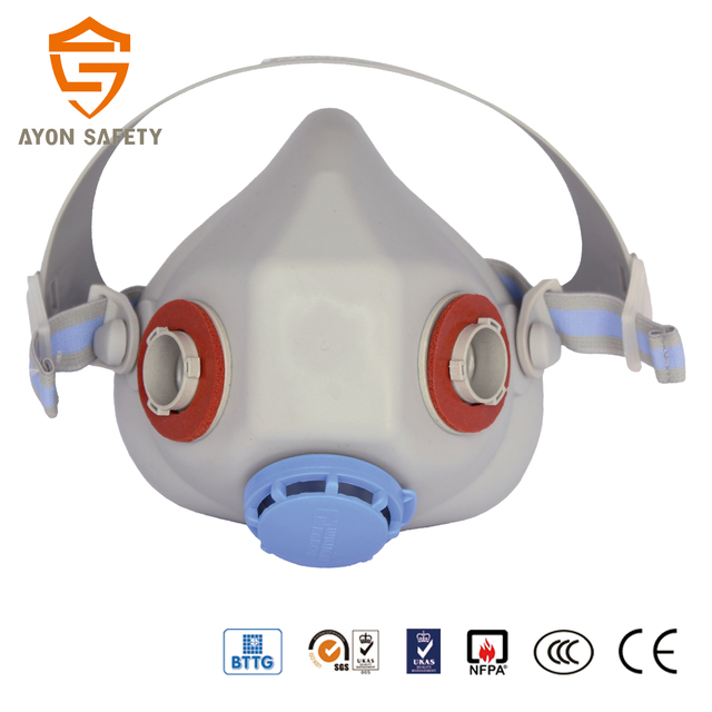 Smooth adjustable chemical protective Half face air purifying mask / mask respirator AS HP602M with 3M twin filter