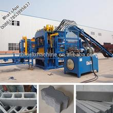 WANTE BRAND QT4-15 China block making machinery for hollow paver bricks