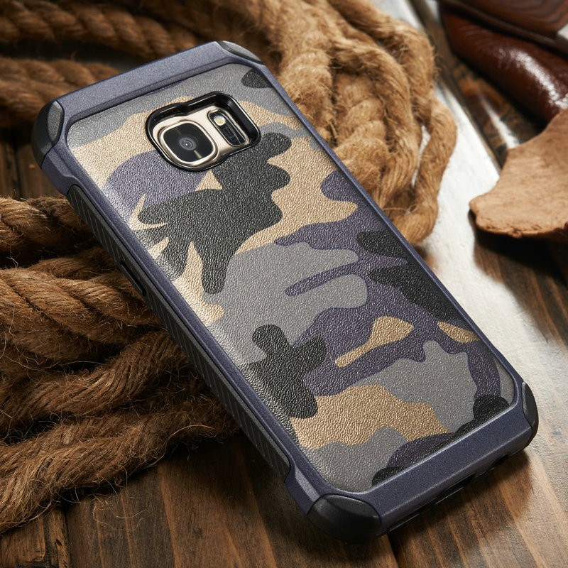 Camouflage Real Leather Case for Samsung S7 S6 for Galaxy S7 S6 S6 edge Accessary Phone Case for iPhone6 6 plus