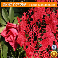 Onway Textile Hand- made crochet embroidery lace new blouse neck chemical lace designs flower