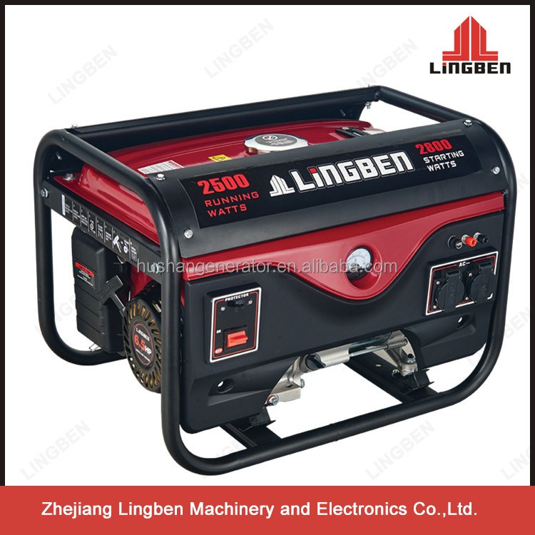 Lingben China Zhejiang 2kw 2000w gasoline generator set price single cylinder 4 stroke LB2600DX-A1 with small MOQ provide