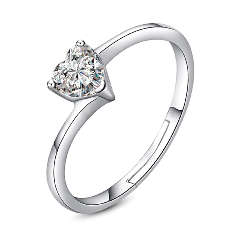 Made In China Fashion Wedding Jewelry Silver <strong>Ring</strong> Cheap Price Stocks Selling Welcome Client OEM Order Women Heart <strong>Ring</strong>