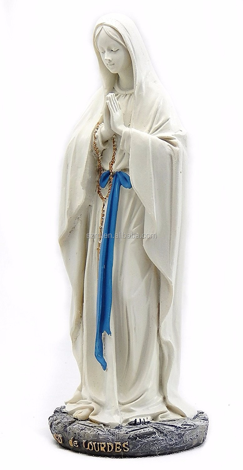 Catholic Gift Stone Resin Statues/ Grace Virgin Mary Blessed OEM resin toy/Madonna Sculptures Decoration resin figure