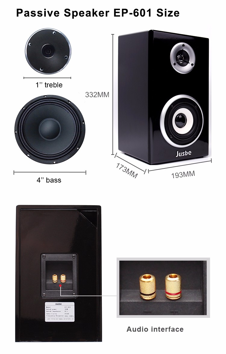 EP601 Wholesale 30w 4inch multimedia desktop speaker hometheatre