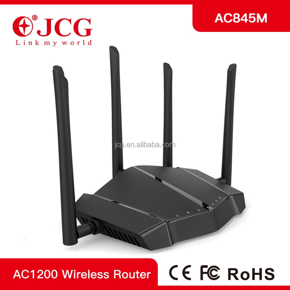 2016 New : 11AC 1200Mbps high power dual-band wireless router with high gain detachable antenna