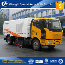 China FAW Vacuum Sweeper truck manufacturer 4x2 Highway Airport Street Vacuum cleaner truck 3-12cbm diesel engine 180HP
